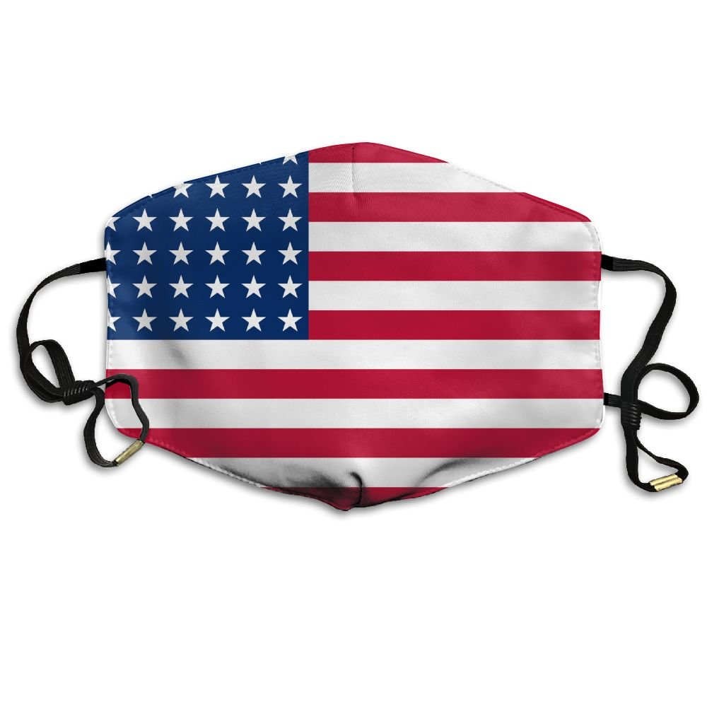 JIANGY American Flag I Love USA Reusable N95 Dust Mask Health Care Mask
