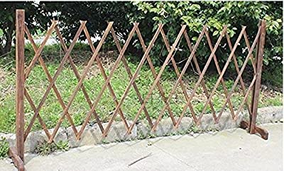 Topot Garden Outdoor Wooden Extendable Instant Fence