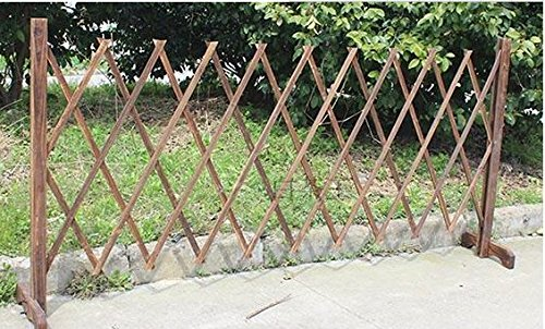 Portable Expanding Fence - Topot Garden Outdoor Wooden Extendable Instant Fence
