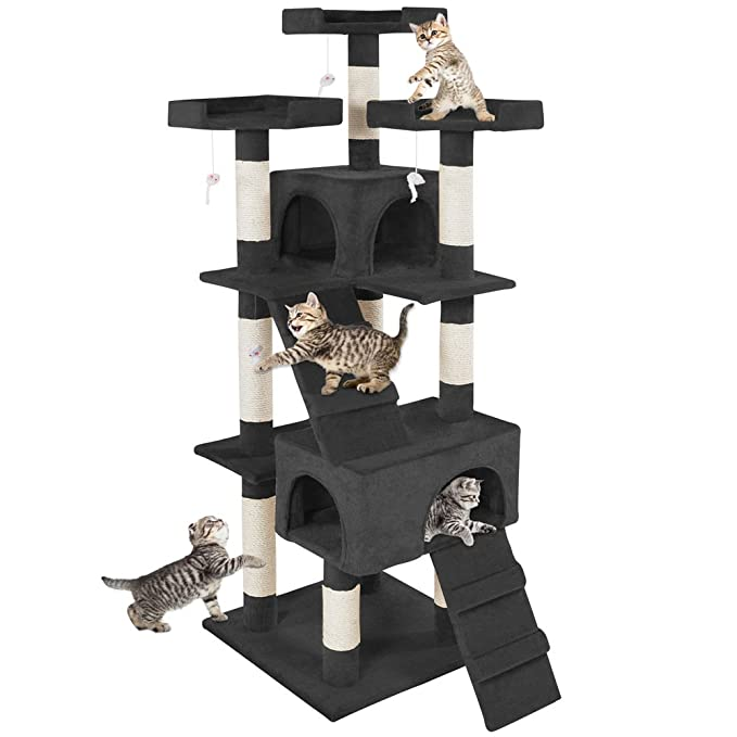 TecTake Rascador Árbol para gatos Sisal - disponible en diferentes colores - (Negro | No. 400929): Amazon.es: Productos para mascotas