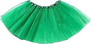 thematys Abito Ballerina Tutu per Ragazze in 4 Colori Diversi Gonna Party Skirt Glitter Tulle - Perfetta per Il Carnevale, Carnevale o Festa di Compleanno dei Bambini.