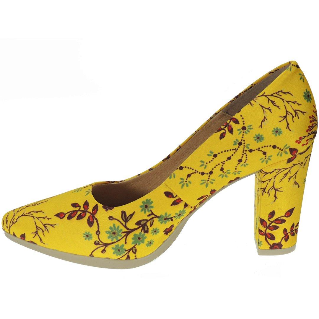 Chamby. Salón de de de Raso Motivos Florales Tacón Ancho 8,5CM para Mujer - Modelo 4795 fc19ac