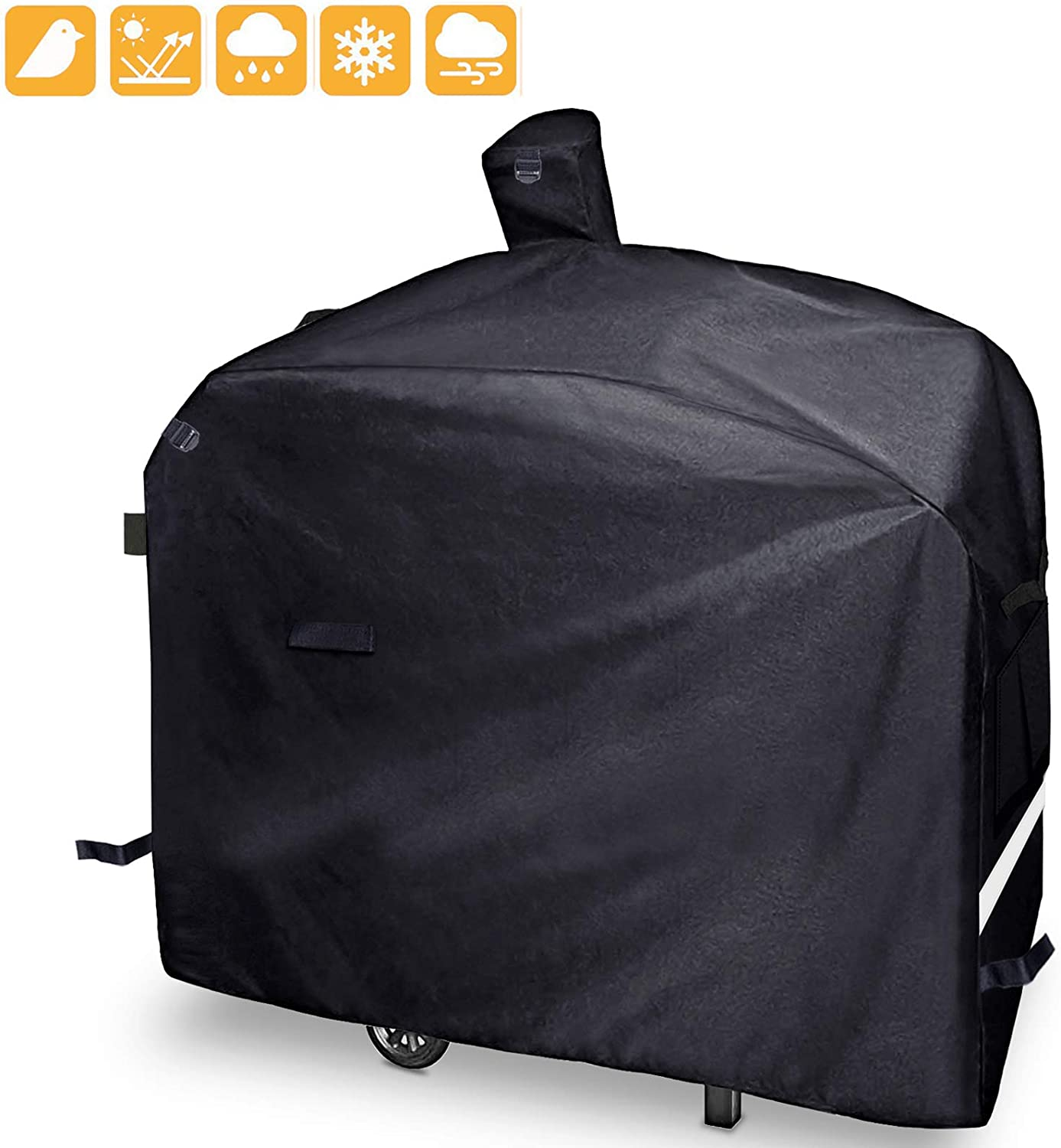 """Grisun Grill Cover for Camp Chef Pellet Grills DLX 24"""", SmokePro 24"""", PG24, PG24LS, PG24S, PG24SE, PG24LTD, SmokePro DLX Woodwind Pellet Grills, Full Length 600D Waterproof Anti-UV Patio BBQ Cover"""