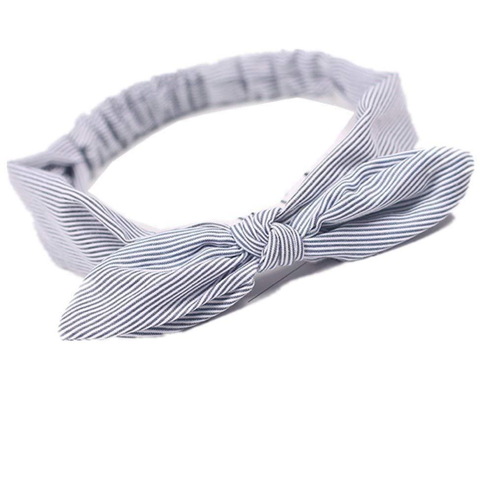 Kanggest Stirnband Damen Elastische Fliege Streifen Stirnbänder Headbands für Sport oder Alltag, Frauen Baumwolle Verdrehte Weiche Turban-Kopf-Verpackungs