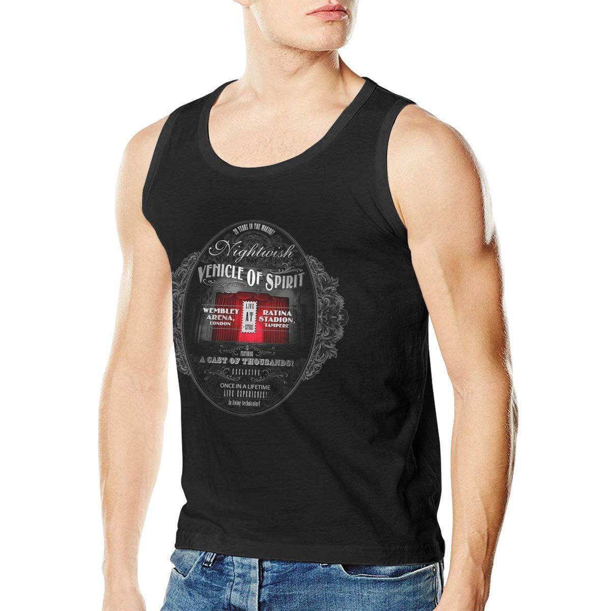 CharlieRGill Nightwish Mens Easy to Wear Sleeveless Tank Vest T-Shirt