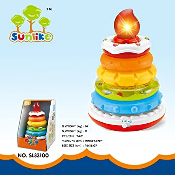 Fabulous Sunliketm Creative Musical Stacked Birthday Cake Toy Multi Play Funny Birthday Cards Online Alyptdamsfinfo