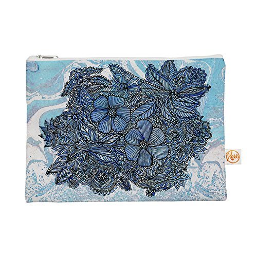 """KESS InHouse Julia Grifol """"Blue Flowers In My Garden"""" Aqu..."""