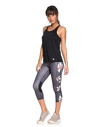 0b98373edcd2d Roxy Womens Spy Game - Technical Capri Leggings - Women - Xs - Black  Charcoal Heather