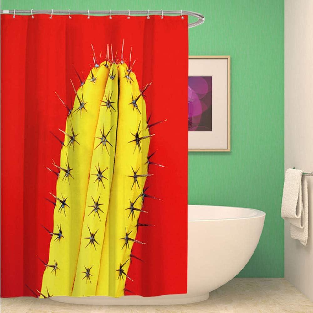 WIXIJAWR Cortina De Ducha Extra Longpolyester Pintado En 3D Cactus Cortina De Ducha Roja Pantallas De Baño Paisaje Cortina De Baño Impermeable Respetuoso del Medio Ambiente,150X180 Cm: Amazon.es: Hogar