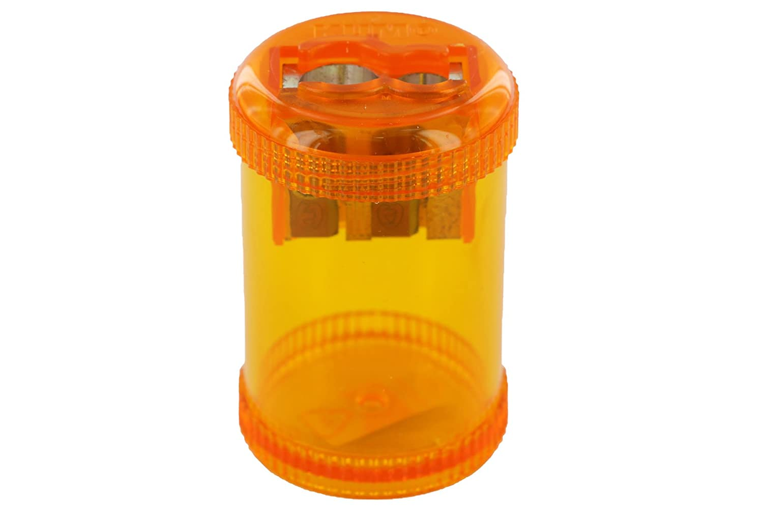 'KUM az103.28.19 Oil Container Double Sharpener 430 M2 O, The Round of Magnesium, SCREW CAP, 1 Piece, Orange AZ103.28.19-O