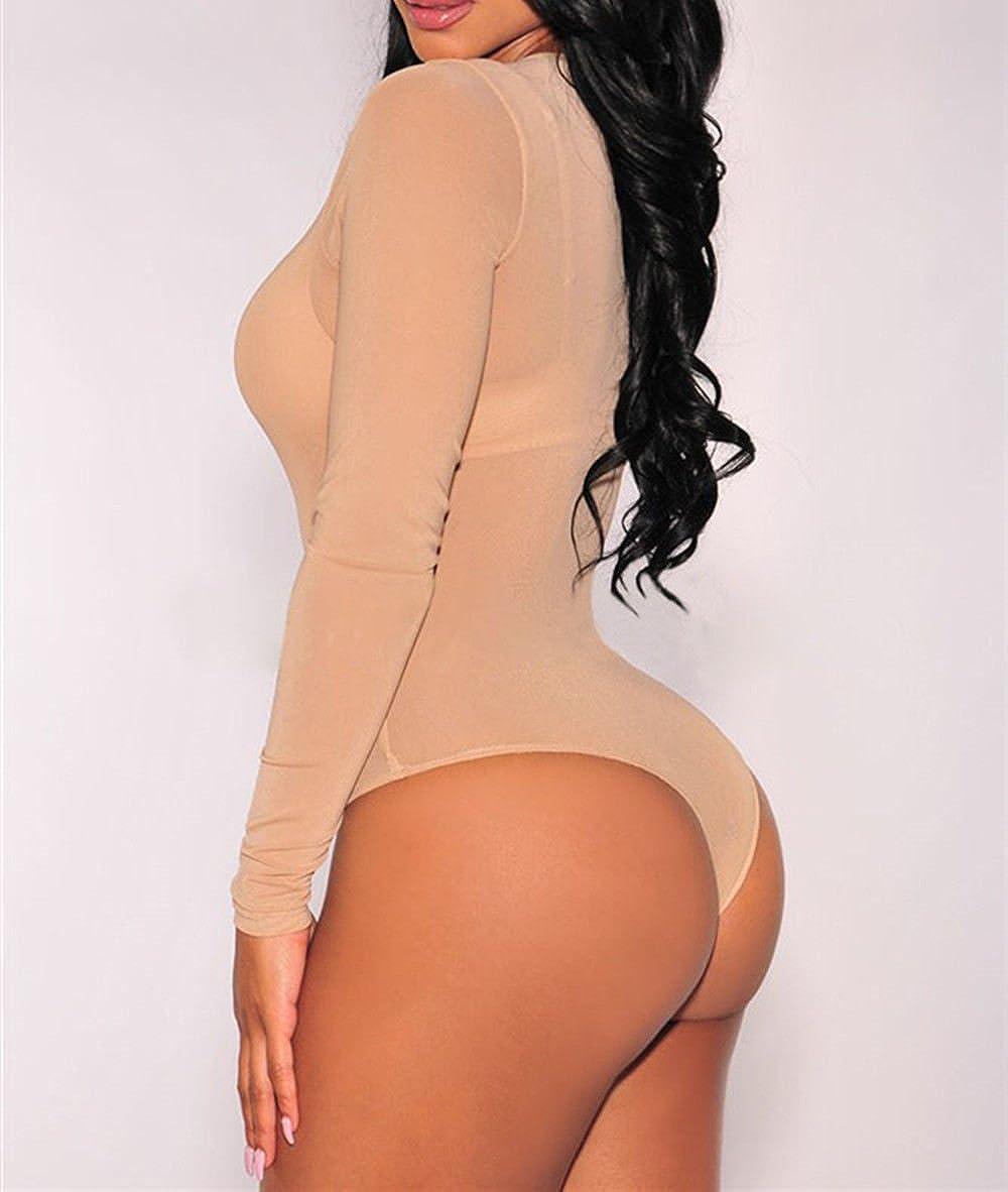 Disheen Sexy Women Mesh Bodysuit fcda0ec10