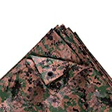 StanSport T-810-17 Digital Woodland Camo Tarp, 8 x 10-Feet