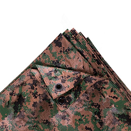 Stansport Ripstop Tarp (Stansport Digital Woodland Camo Tarp, 8 x 10-Feet)