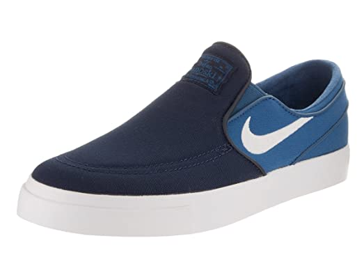 Nike Men's Zoom Stefan Janoski CNVS Skate Shoe Industrial Blue/Obsidian 9.5 IFRjVJT
