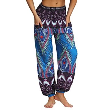 2019 Pantalones Mujer Verano Casual Flojo Informal Hippy ...