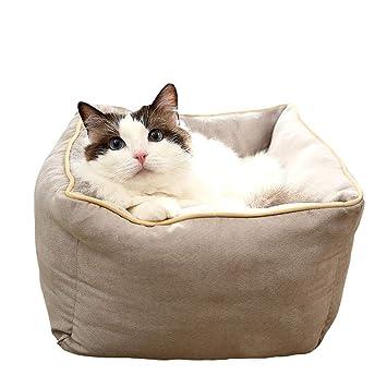 Wybxfat Cama para Gatos, Cama Antideslizante Lavable para Perros Gato Nido, Impermeable, Transpirable