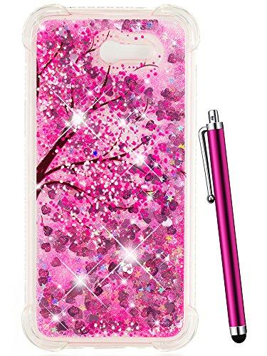 CAIYUNL Glitter Bling Clear Protective Liquid Sparkle Phone