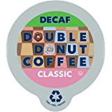 Double Donut Classic Decaf Coffee, in Recyclable Single Serve Cups for Keurig K-Cup Brewers, 24 Count