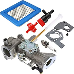 498298 Carburetor Compatible with Briggs & Stratton 498298 692784 495951 492611 490533 495426 Carb with Gasket Air Filter Spark Plug Kit