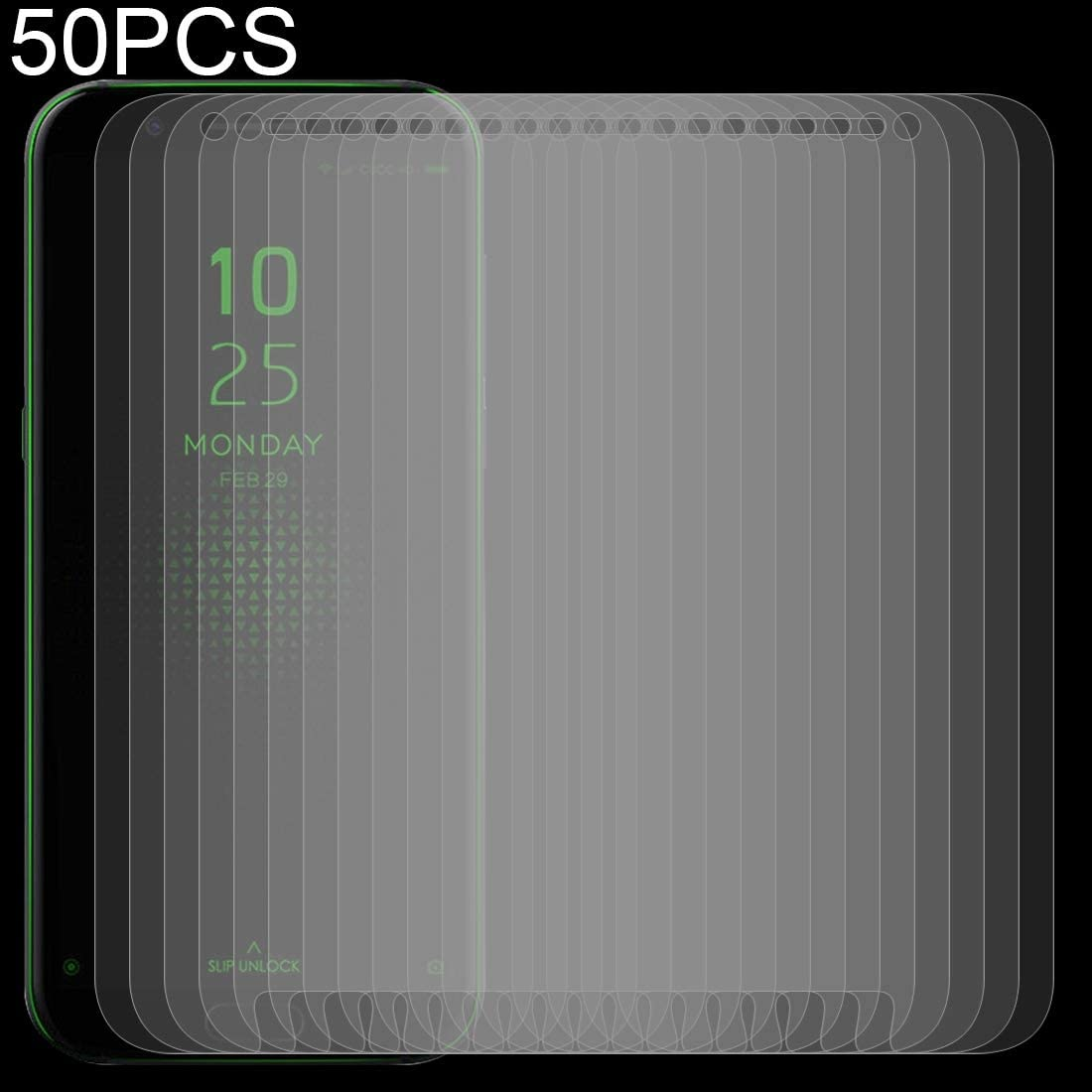 LGYD 50 PCS 0.26mm 9H 2.5D Tempered Glass Film for Xiaomi Black Shark No Retail Package