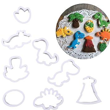 QUICKLYLY 8 Juegos Moldes de Postre/Pastel/Galleta,Molde De Silicona Para Hornear,Dibujos Animados De Modelado Suave émbolo: Amazon.es: Hogar