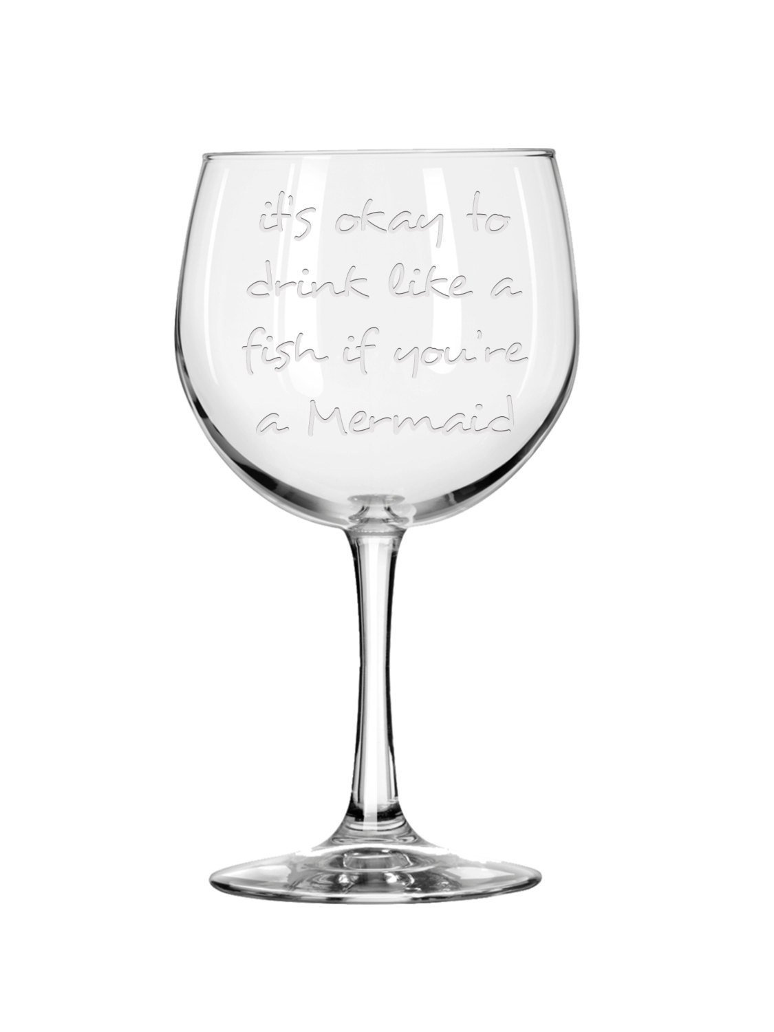 Amazon.com: Personalized Engraved Wine Glass,Mermaid Wine Glass ...
