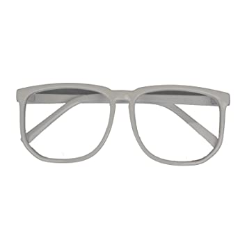 35c8041f248 Amazon.com   Hotportgift Large Geek Glasses Clear Lens Square Party Fancy  Dress Big Nerd Men Women (white)   Beauty Products   Beauty