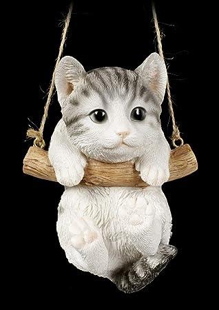 Figura de Gato para bebé en Columpio, Figura de Animales, Pintada a Mano, para Colgar: Amazon.es: Juguetes y juegos