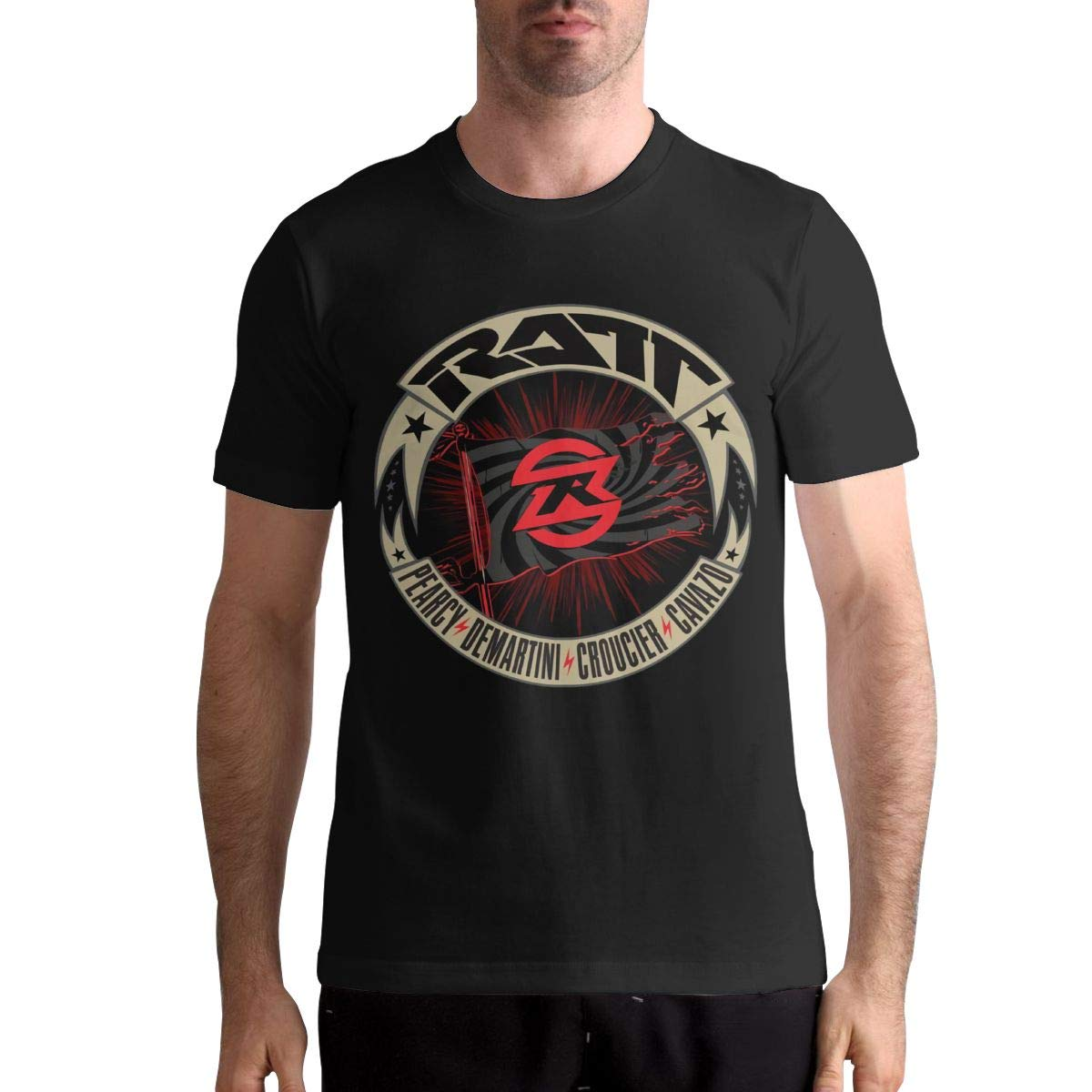Ratt Band T Shirt T Shirt Fashion Sports Tops Round Neck Short Sleeve Tee 5705
