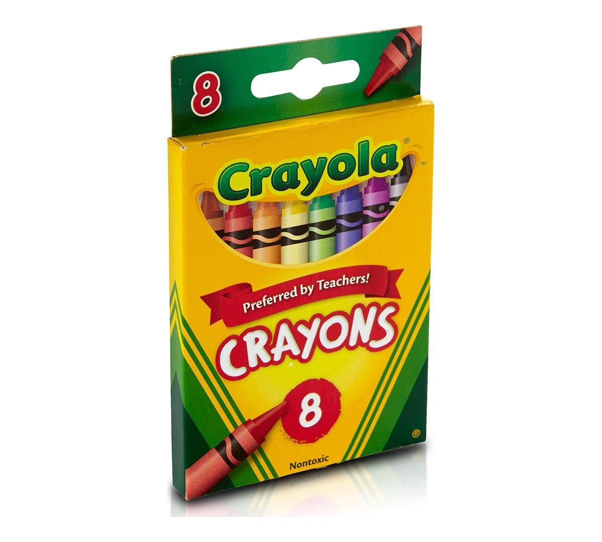 8 Count Crayola Crayons Pack of 2 Crayon Sharpener
