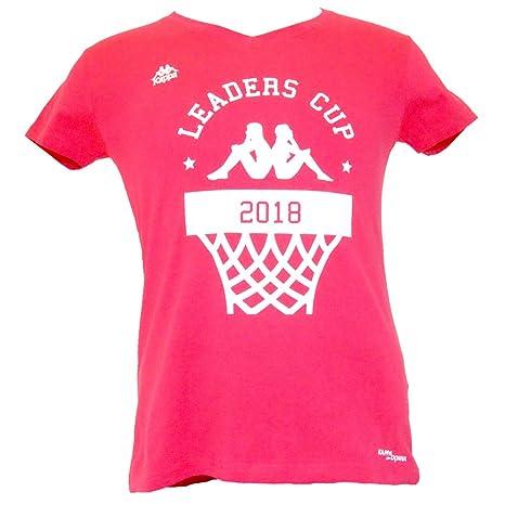 Ligue Nationale de Basket Kappa Leaders Cup 2018 Camiseta, Mujer, Fuxia, FR (