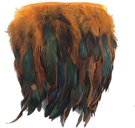 2,7 m Orange Rubans /à franges en plumes de coq pour d/écoration de robes et robes de mari/ée