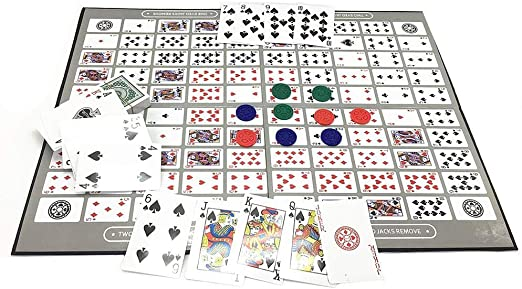 Ecisi Big Chess Board Game Table Game Pattern Patrón Deluxe Sequence Tin (inglés y árabe) Family Board-Game, Sequence Game Chess Family Game Toy: Amazon.es: Hogar