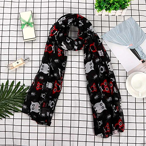 Square Christmas Black Silk Scarf Satin Printed Women 2018 Merry Snowflake Shawl Kaiki zqE8x