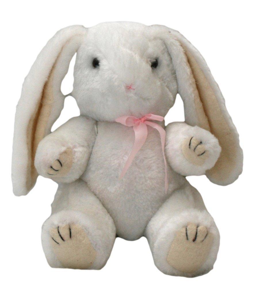 Amazon Com Plush Stuffed Animal Winter White Bunny Rabbit With