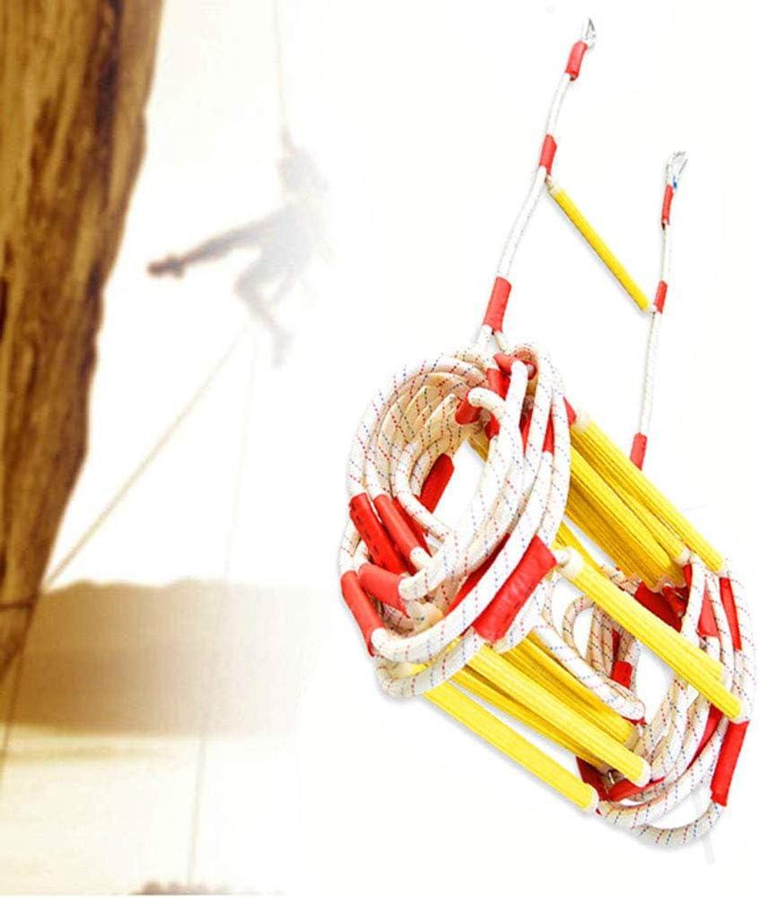 YOLE Escalera De Cuerda, Escaleras De Emergencia De Resina De Escalera, para Niños Y Adultos Escalera De Entrenamiento Escalera De Cuerda para Niños con Peldaños De Madera Ideal para Escalada: Amazon.es: Deportes