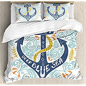 611Yequf4VL._SS300_ 100+ Nautical Duvet Covers and Nautical Coverlets For 2020
