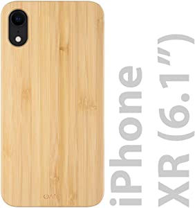 iATO iPhone XR Wood Case. Real Bamboo iPhone XR Case Wood. Minimalistic Classic Wood iPhone XR Case 6.1