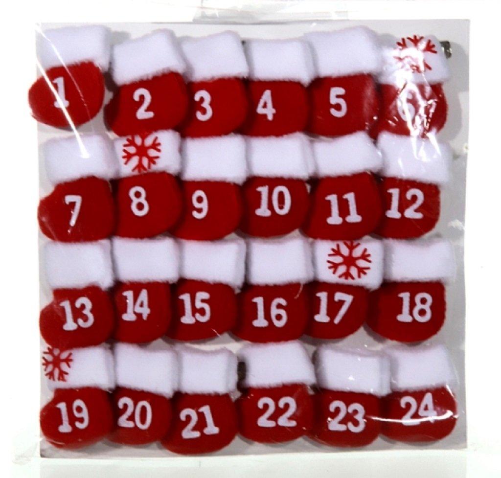 Adventskalender Advent Kalender 24 Stiefel Socken Strümpfen Weihnachtskalender