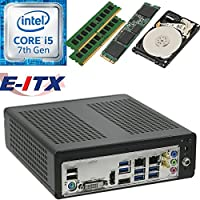 E-ITX ITX350 Asrock H270M-ITX-AC Intel Core i5-7400 (Kaby Lake) Mini-ITX System , 32GB Dual Channel DDR4, 120GB M.2 SSD, 2TB HDD, WiFi, Bluetooth, Pre-Assembled and Tested by E-ITX