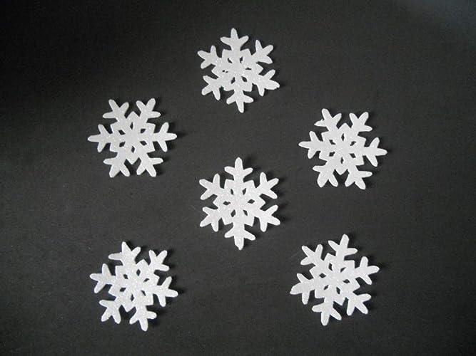 6 Copos De Nieve Para Decorar En Navidad De Goma Eva Brillante 65