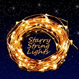 LED String Lights - Nozza Copper Wire Lights - Starry String Lights - Décor Rope Lights For Seasonal Decorative Christmas Holiday - Wedding - Parties(100 Leds - 33 ft,Warm White)