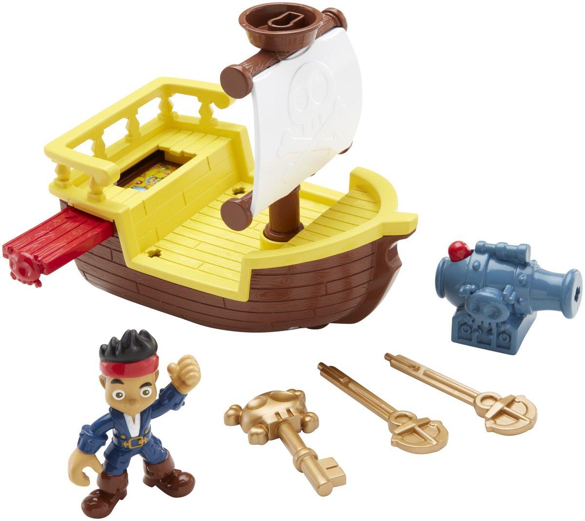 Llave de la Batalla Naval Aventura Fisher-Price Disney capit/án Jake y los Piratas de Nunca Jam/ás