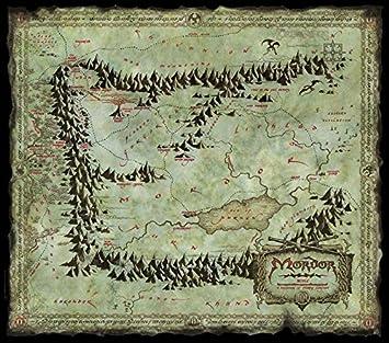 mordor karte Amazon.de: Filmposter Der Herr der Ringe Karte Mordor (78 x 68)