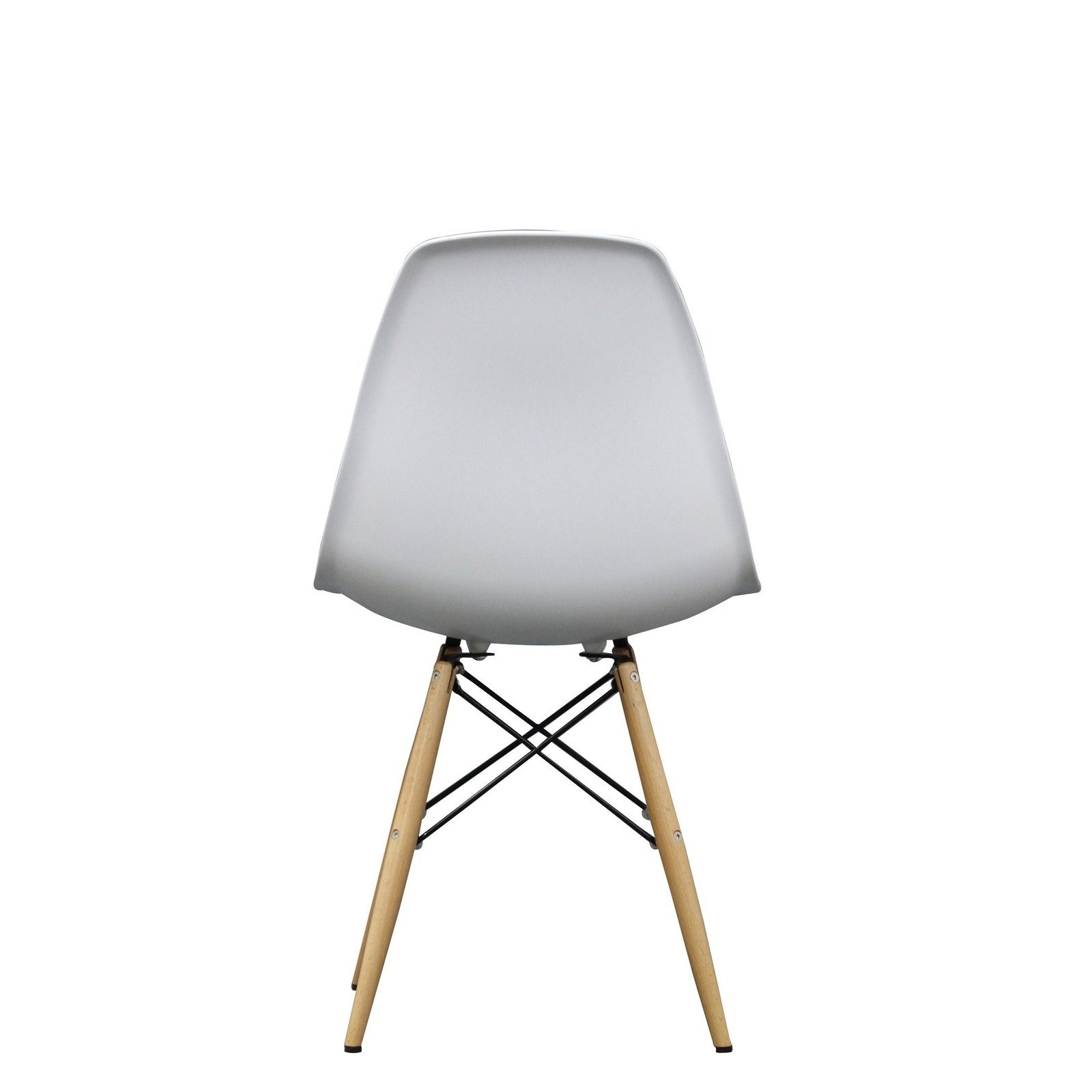 Modway Pyramid Side Chair with Natural Wood Legs in White by Modway (Image #4)