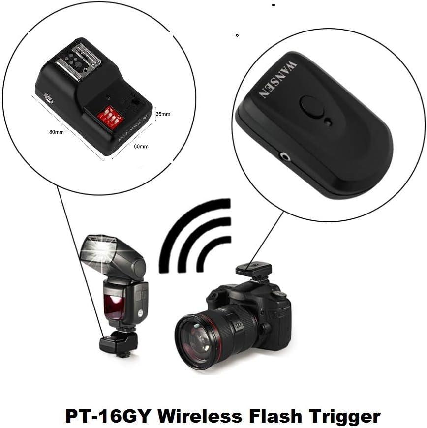 MeterMall Electronics Universal 16 Channels Radio Wireless Remote Speedlite Flash Trigger for Flashe Speedlite 1 to 1