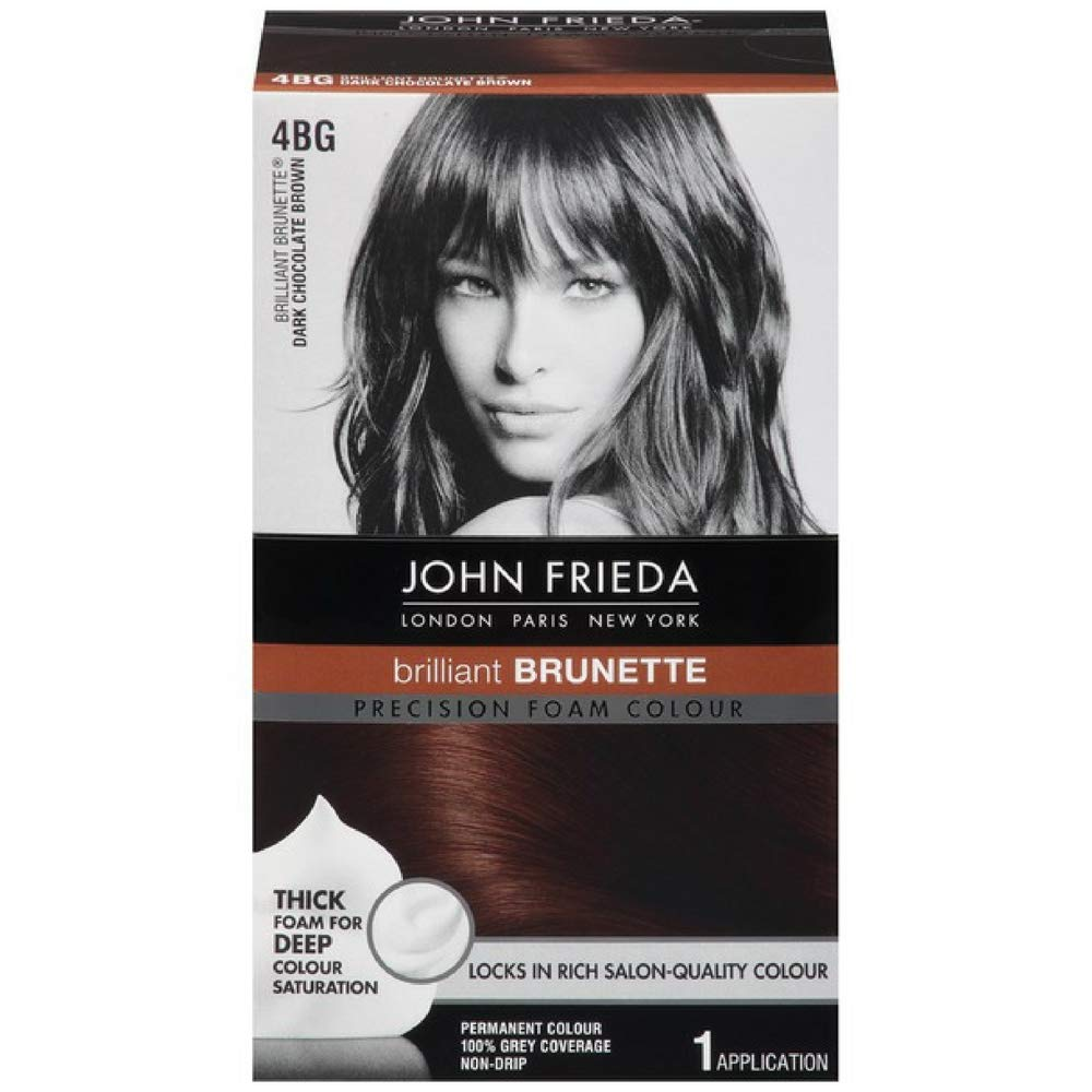 John Frieda Precision Foam Colour Brilliant Brunette (Dark Chocolate Brown) 4BG 1 Each (Pack of 2) by John Frieda