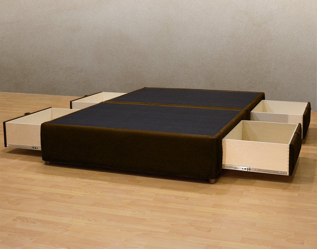 Plataforma cama queen/king size cama de almacenamiento/tapizado de ...