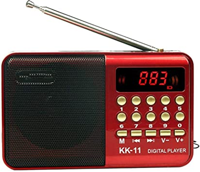 Radio Radio Altavoz portátil Mini Radio FM Reproductor de ...
