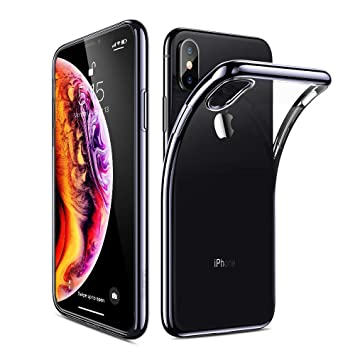 coque iphone xs max noir contour
